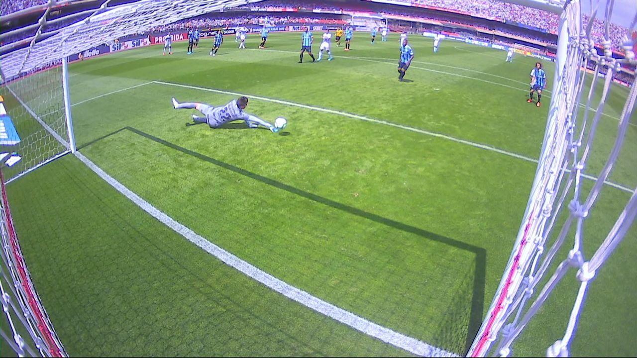Veja a chance que Igor Gomes teve no empate sem gols com o Grêmio, no último sábado