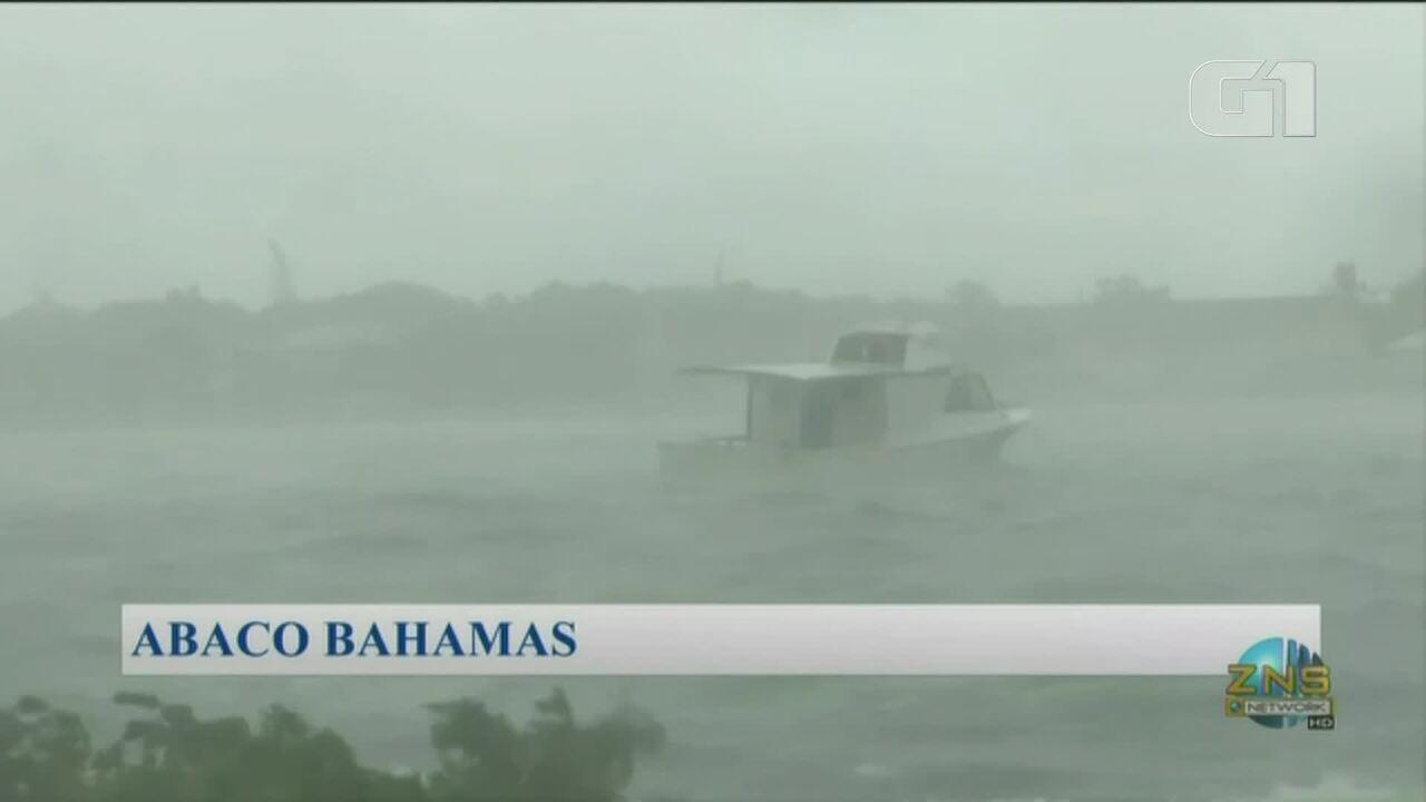Furacão Dorian chega às Bahamas