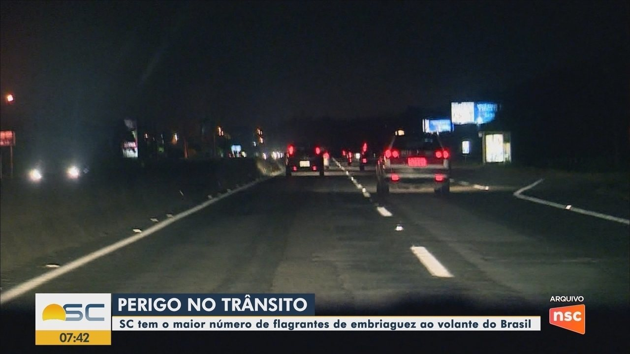 SC tem o maior número de flagrantes de embriaguez ao volante do Brasil