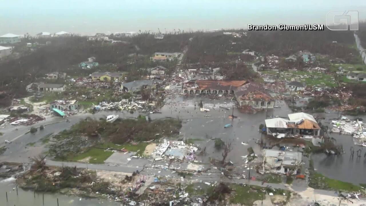 Imagens aéreas mostram a destruição nas Bahamas após a passagem do furacão Dorian