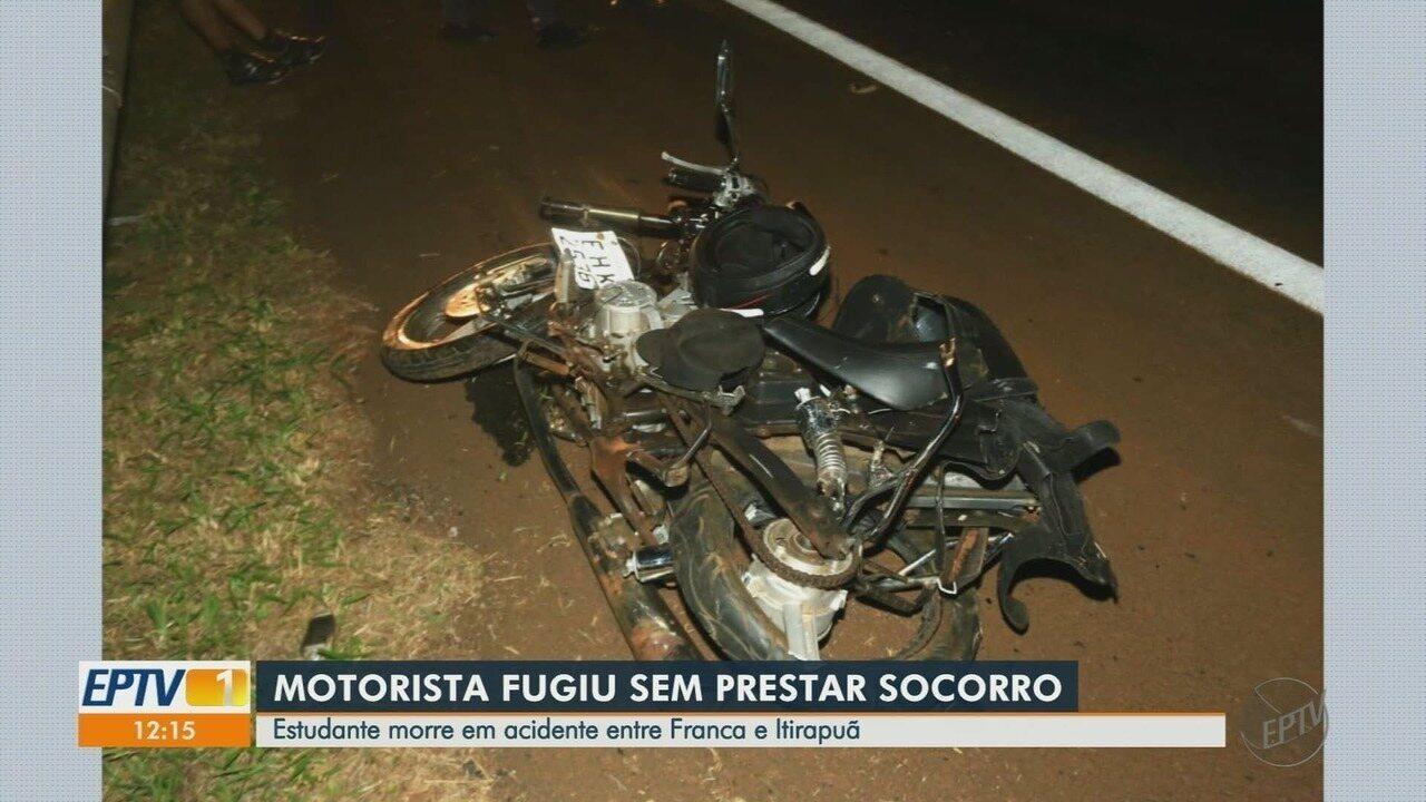 Estudante de 20 anos morre em acidente na rodovia de SP que liga Franca a Itirapuã