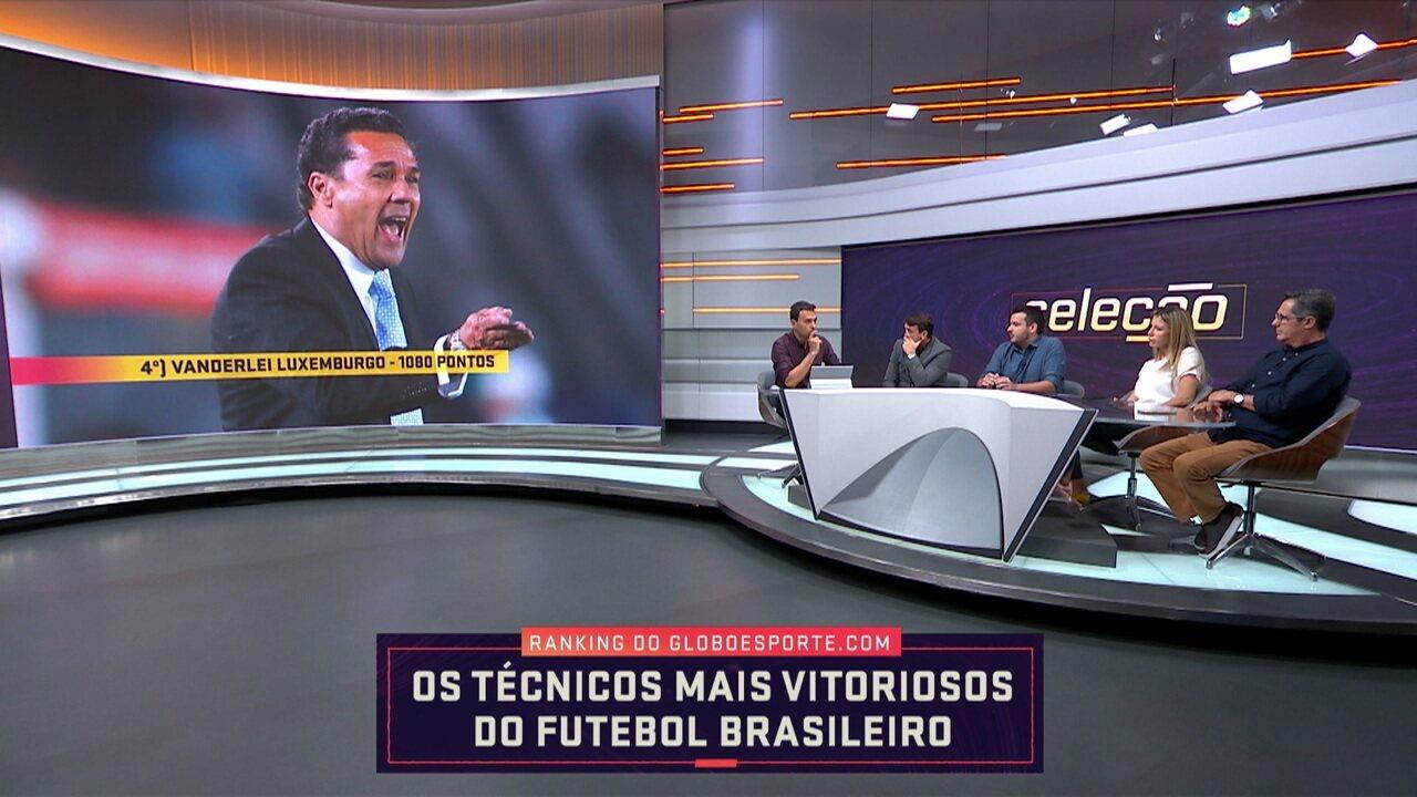 Mesa debate sobre os técnicos mais vitoriosos do futebol brasileiro