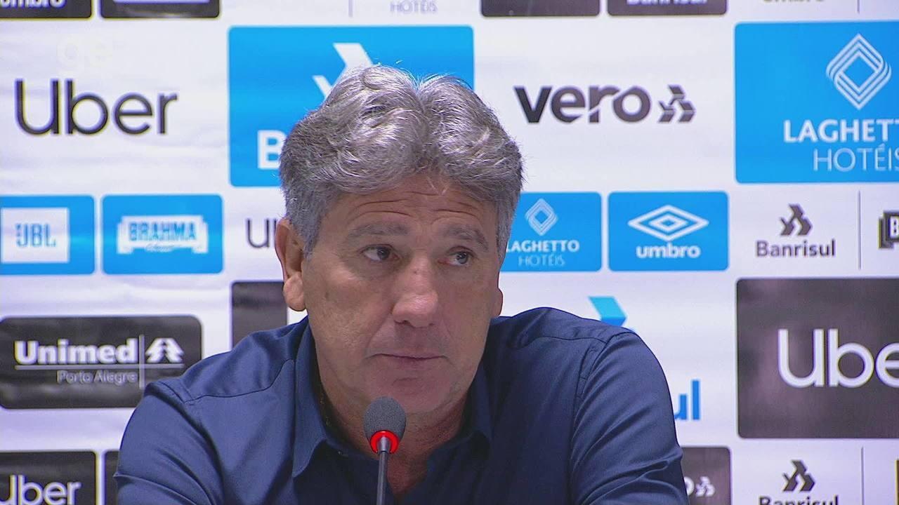 Confira a coletiva do técnico Renato Gaúcho após a eliminação para o Athletico-PR
