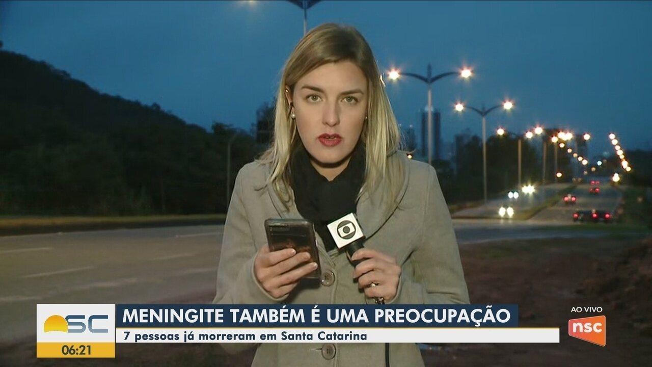 Sobe para 7 o número de mortes por meningite em Santa Catarina