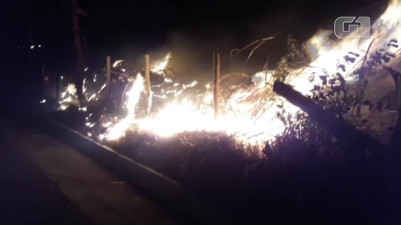 Miracema tem sofrido com as queimadas em áreas de vegetação