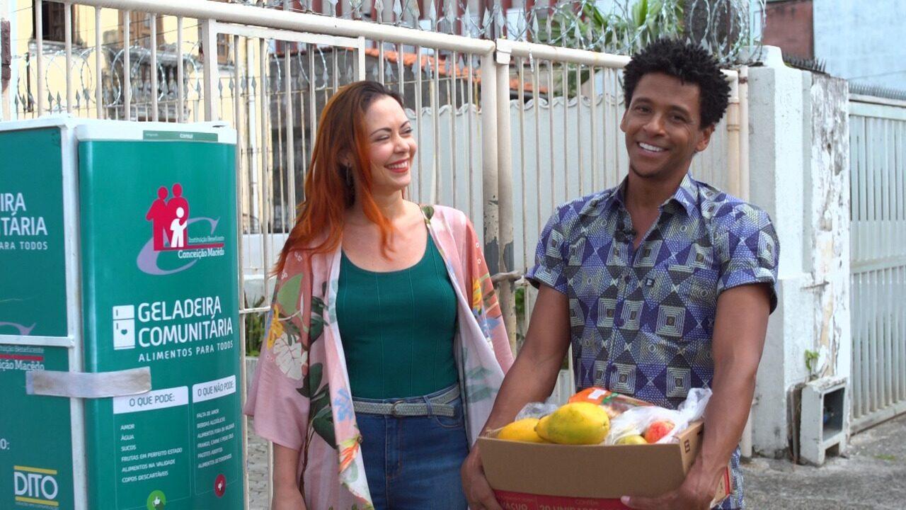 Briza e Aldri encerram o programa sugerindo doações para Geladeira Comunitária de Nazaré