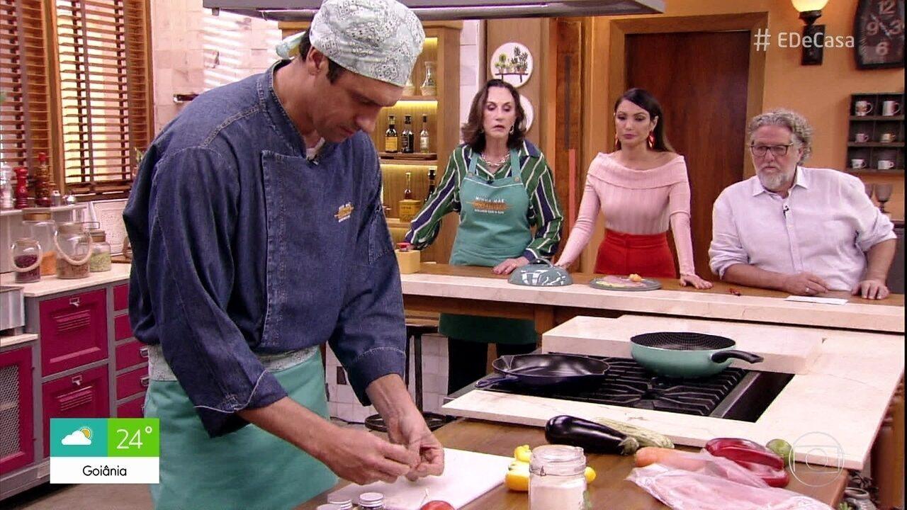 Gustavo Borges prepara receita de tilápia da mãe