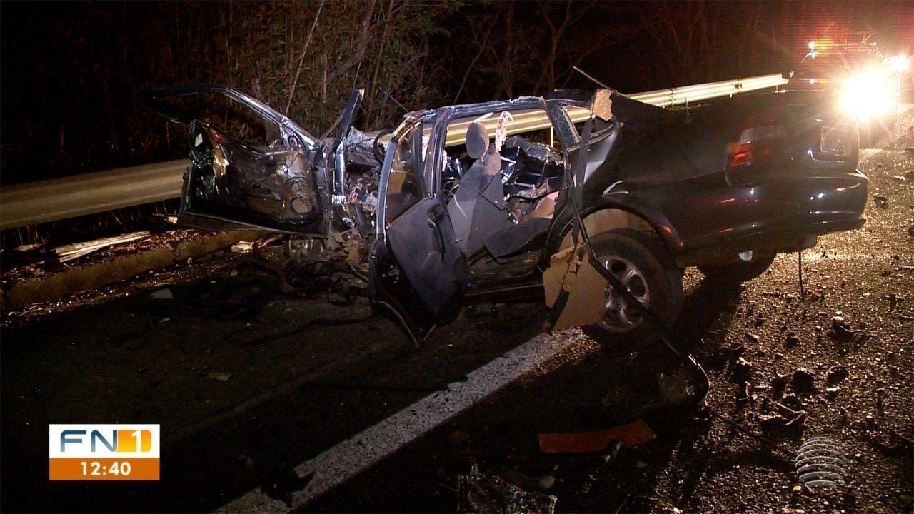 Carro na contramão causa acidente que resultou na morte de um homem