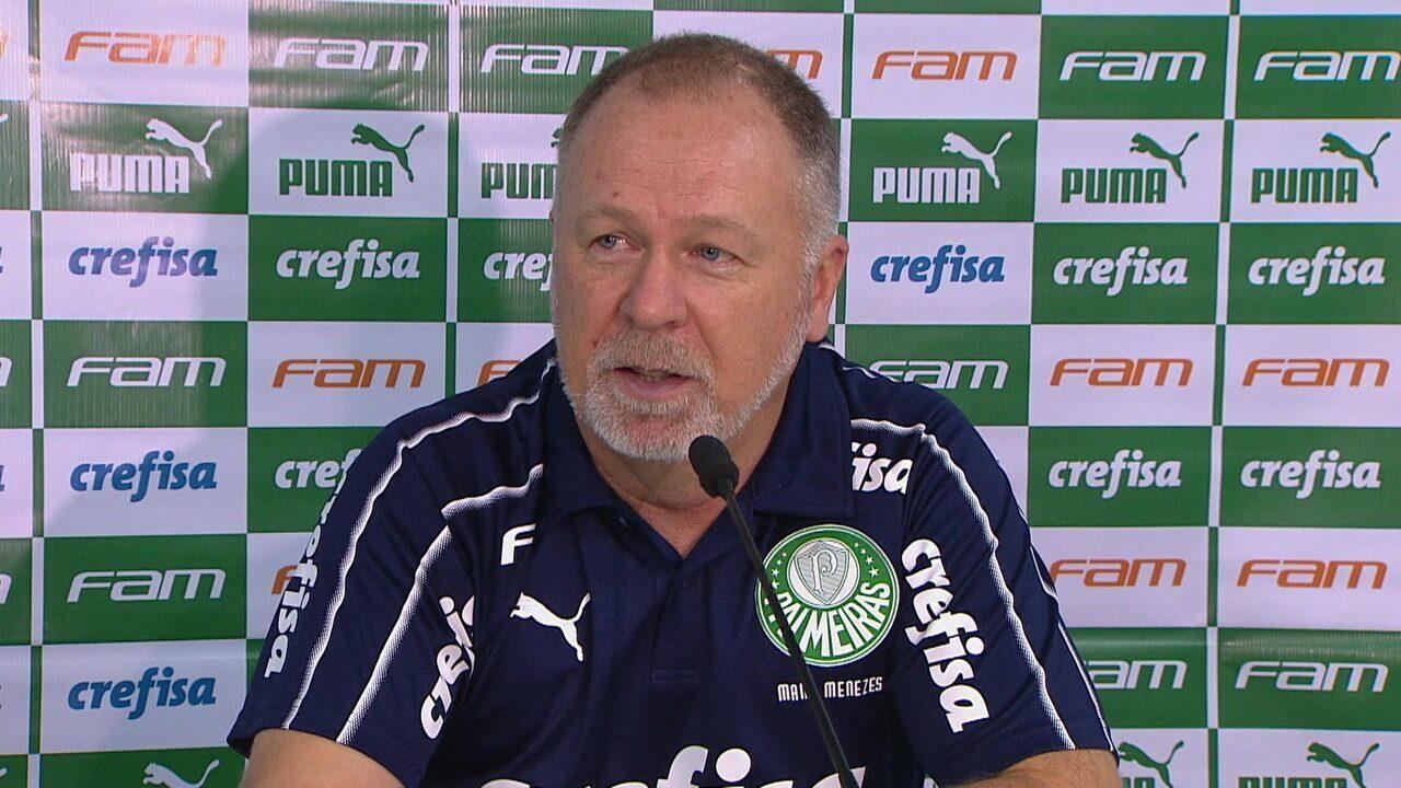 Mano Menezes fala sobre a vitória de virada do Palmeiras sobre o Goiás no Serra Dourada