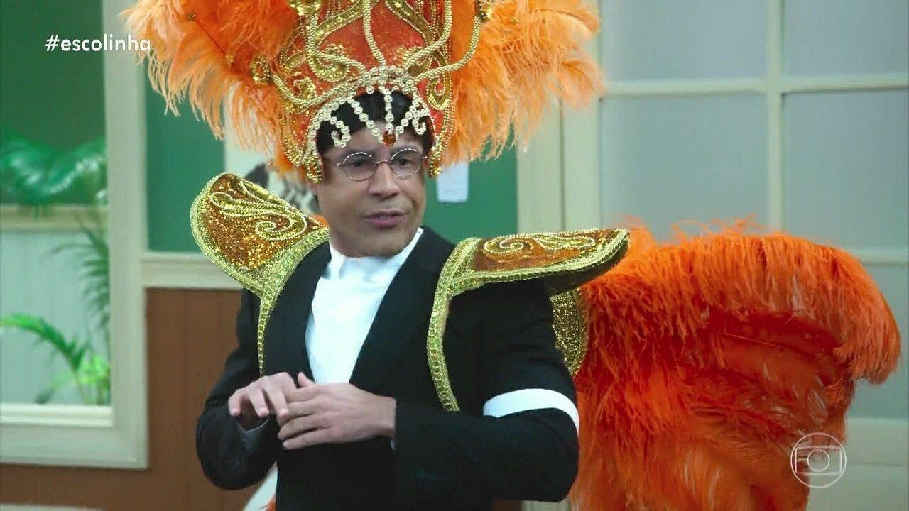 Seu Batista monta escola de samba para o Professor Raimundo