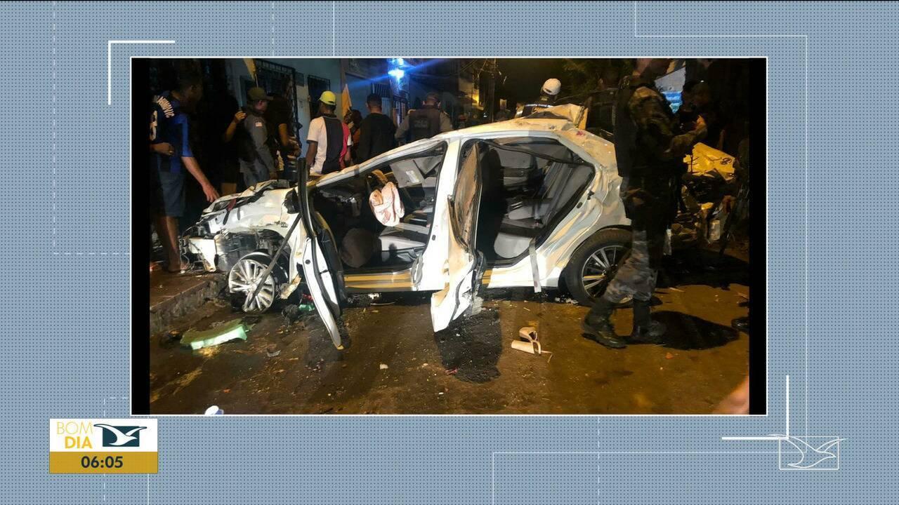 Acidente de trânsito deixa quatro mortos e cinco feridos em São Luís