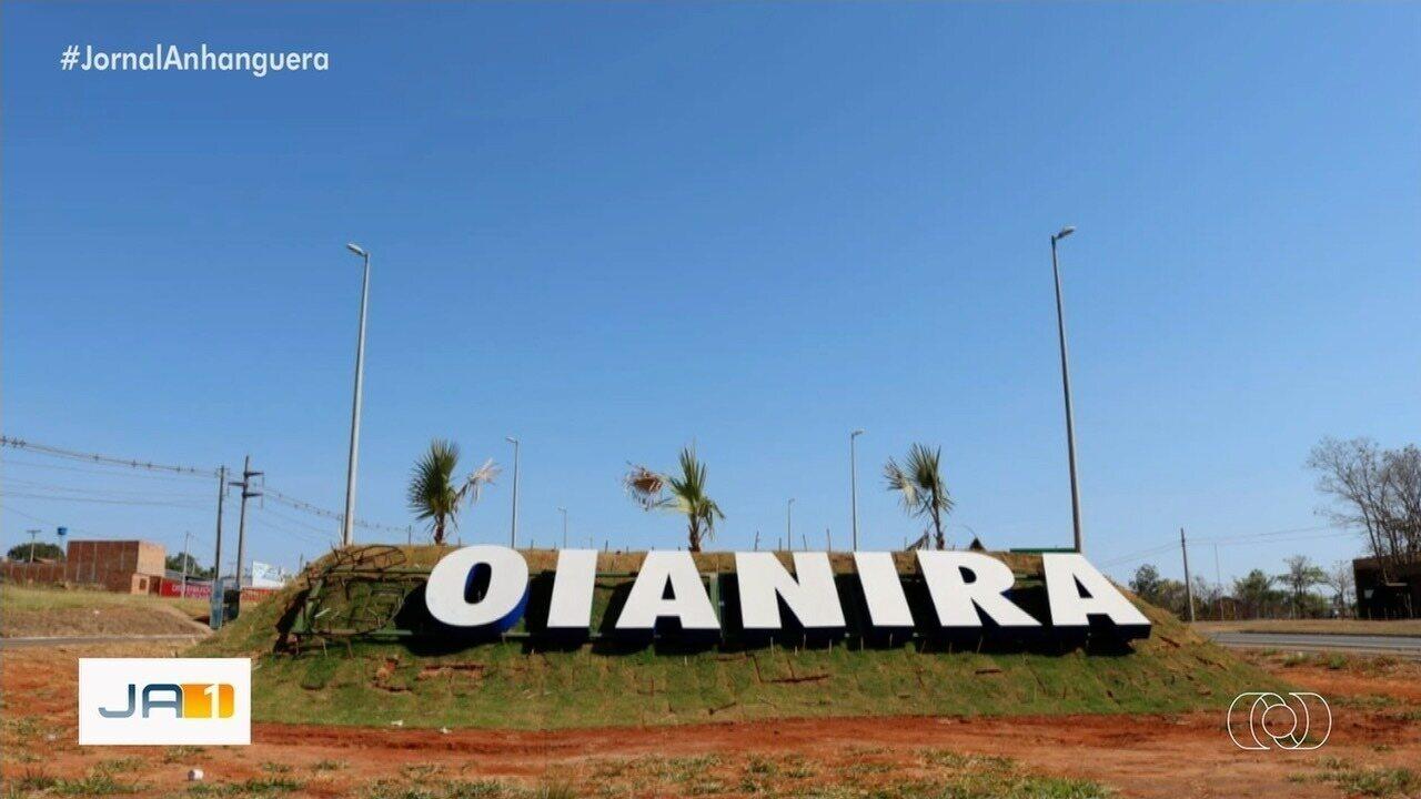 Letra 'G' do letreiro na entrada de Goianira é furtado