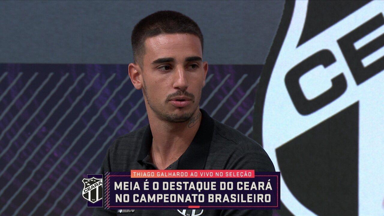 Thiago Galhardo, do Ceará, participa do Seleção SporTV e fala sobre o Campeonato Brasileiro