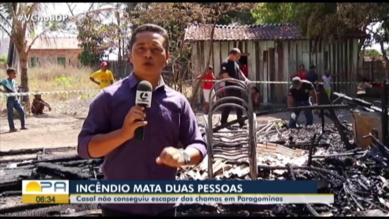 Em Paragominas, laudo de incêndio que matou duas pessoas sai em 30 dias