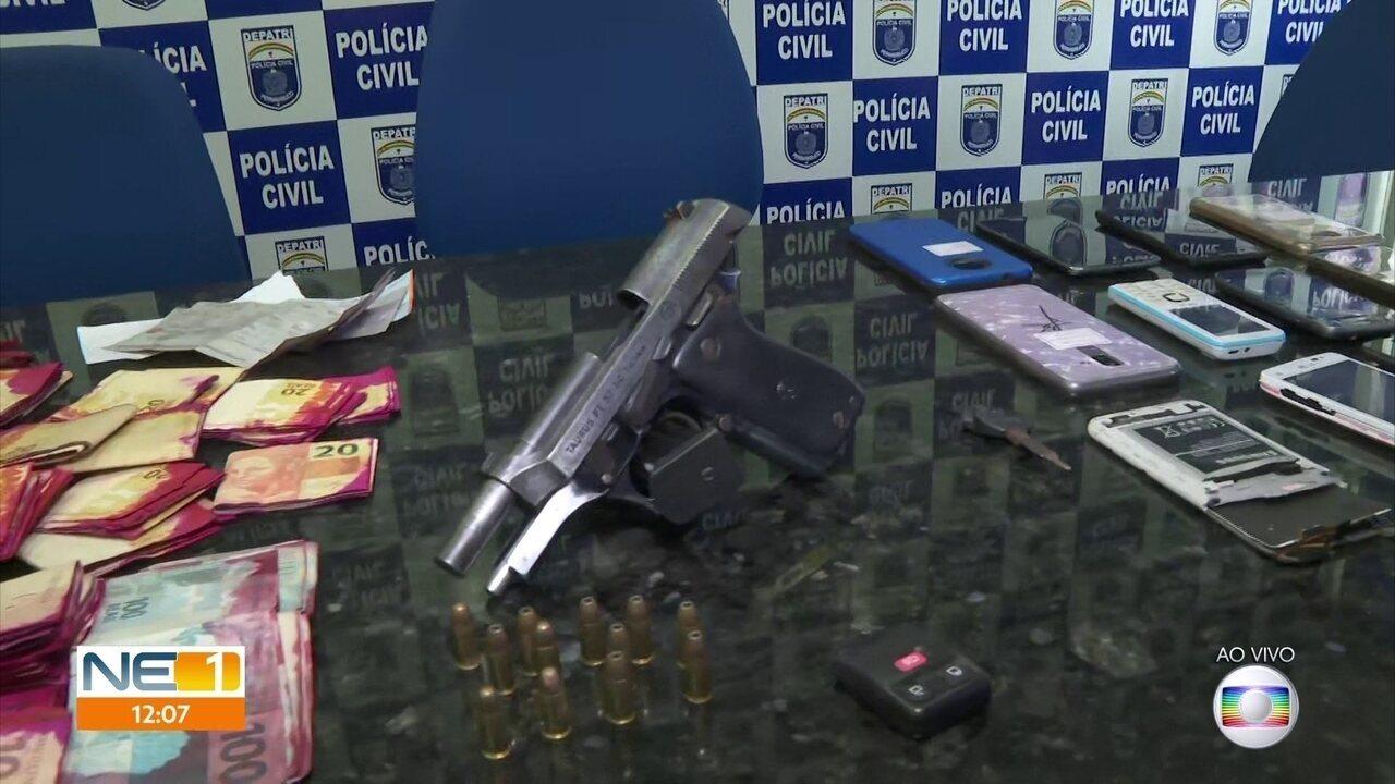 Polícia prende quadrilha que roubava caixas eletrônicos e clonava placas de carros