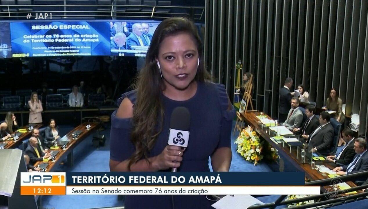 Sessão no Senado comemora 76 anos da criação do Território Federal do Estado do Amapá