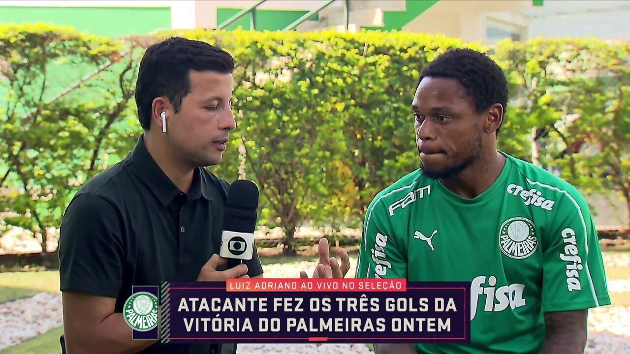 Luiz Adriano, do Palmeiras, em entrevista ao programa Seleção SporTV