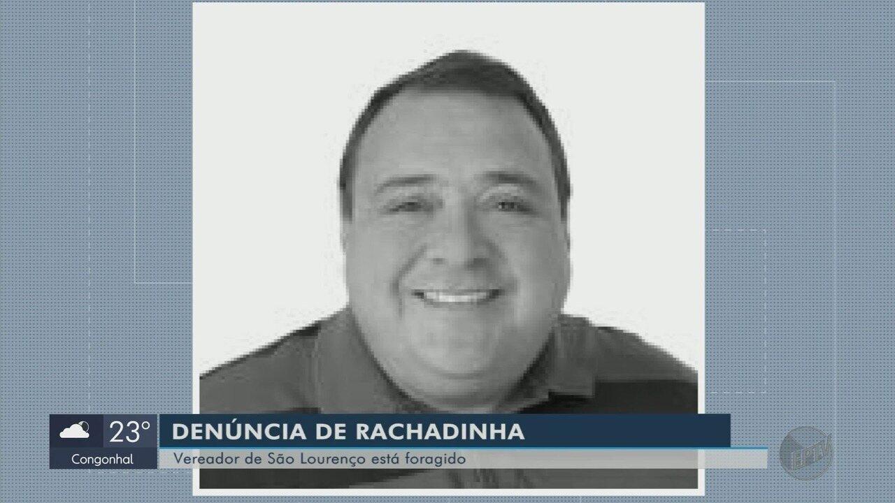 Vereador suspeito de participar de 'rachadinha' é considerado foragido em São Lourenço