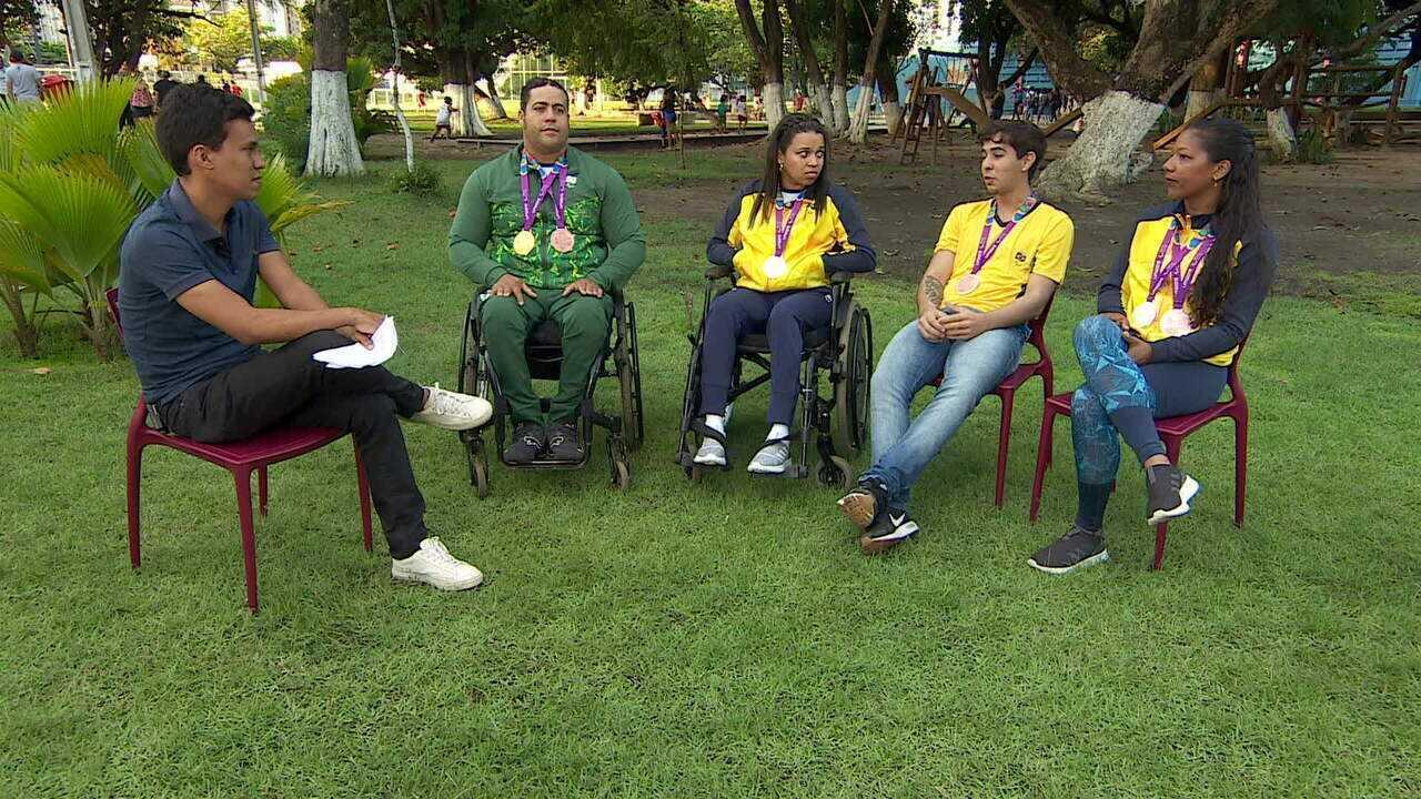 Atletas paralímpicos pernambucanos voltaram para casa cheios de medalhas do Parapan