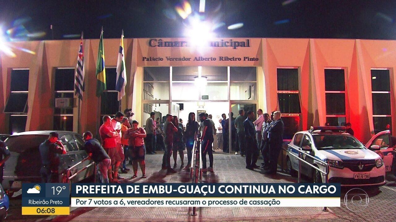 Vereadores decidem que prefeita de Embu-Guaçu pode continuar seu mandato