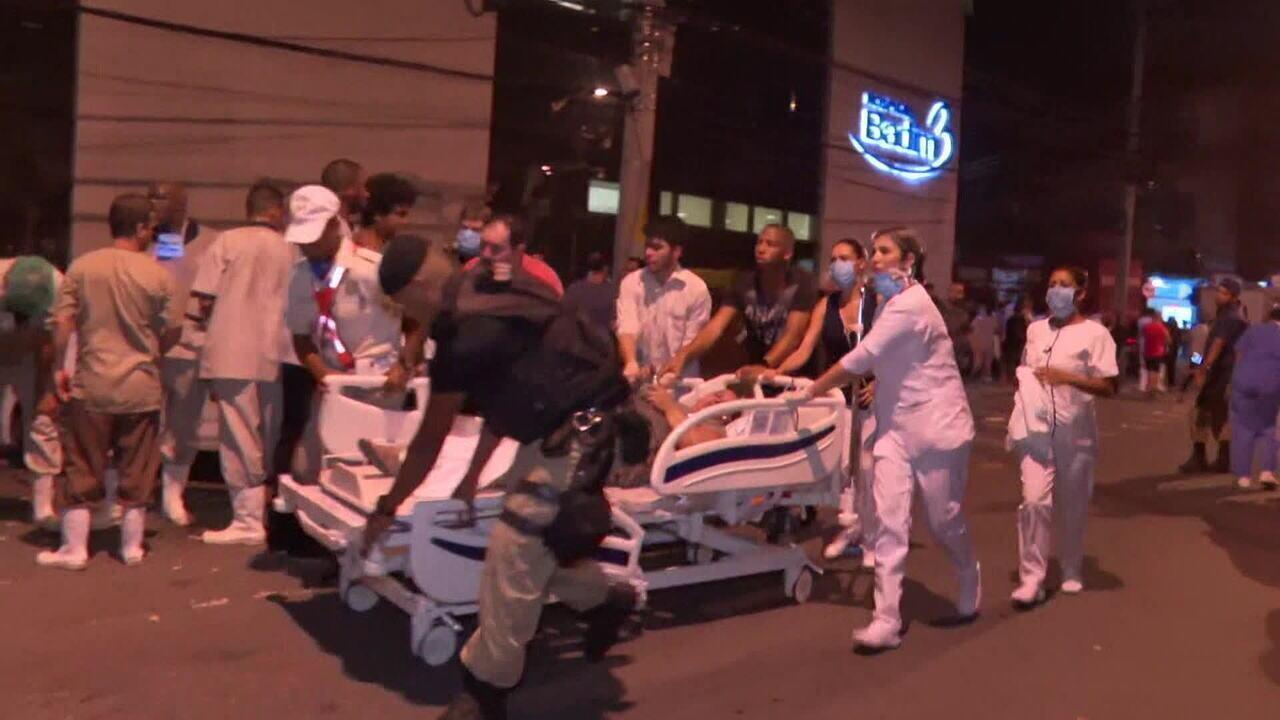Incêndio de grandes proporções atinge hospital e mata um no Rio