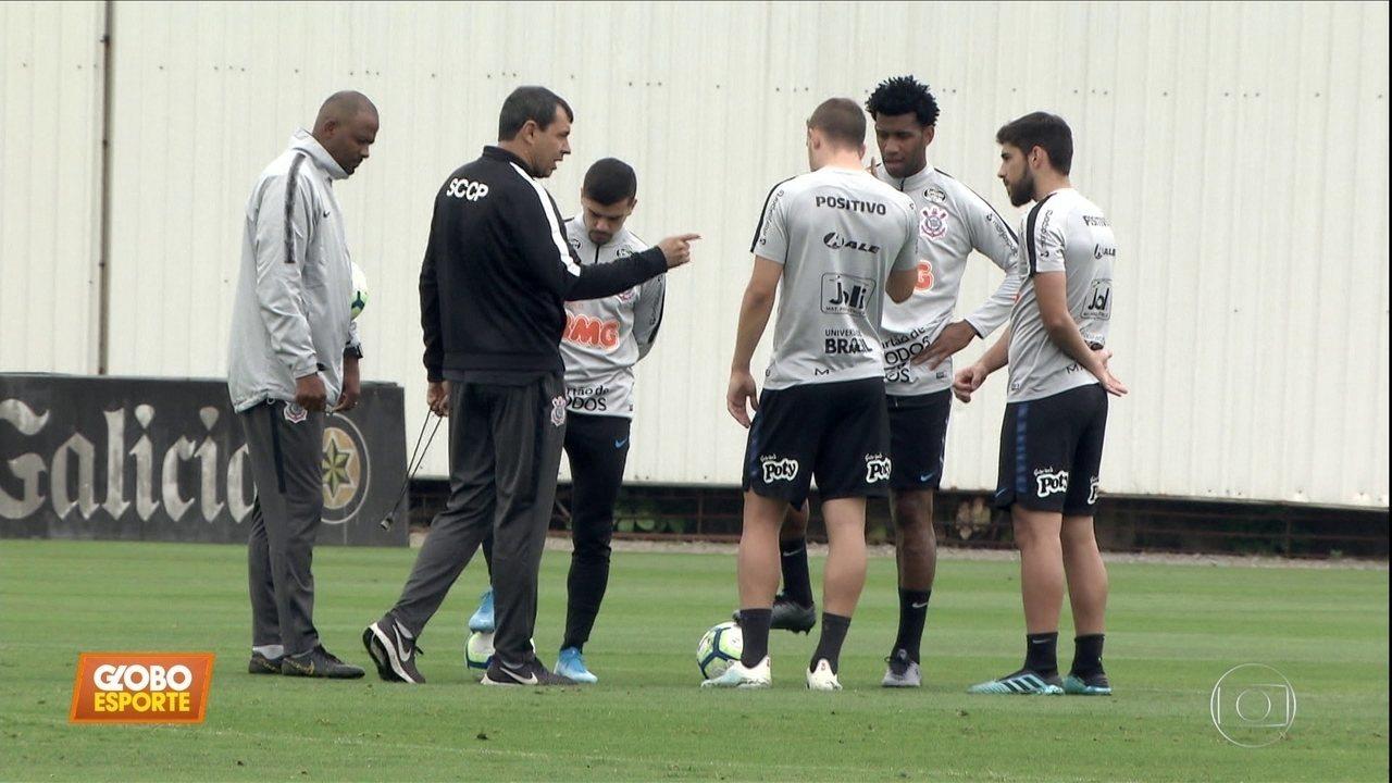 Veja como foi a preparação do Corinthians para enfrentar o Fluminense neste domingo