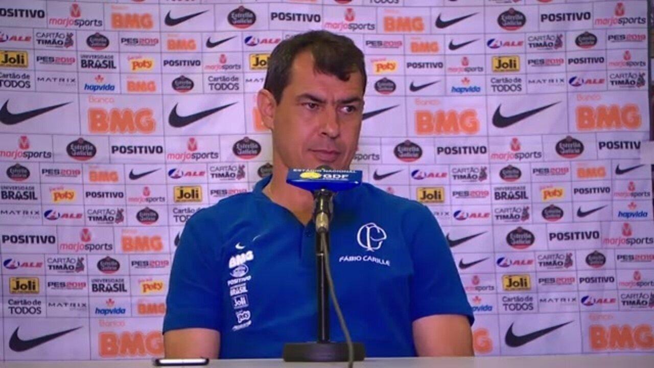 Veja como foi a entrevista de Fábio Carille, do Corinthians, após a derrota para o Fluminense