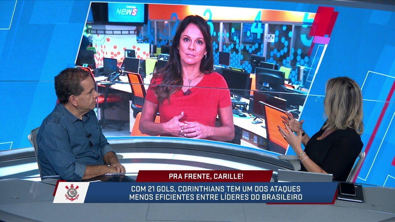 Mesa discute possibilidade de Corinthians jogar com dois atacantes