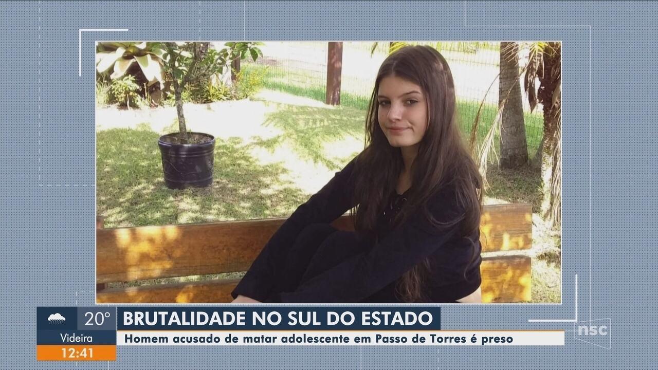 Suspeito de matar menina de 14 anos no Sul de SC é preso no Rio Grande do Sul