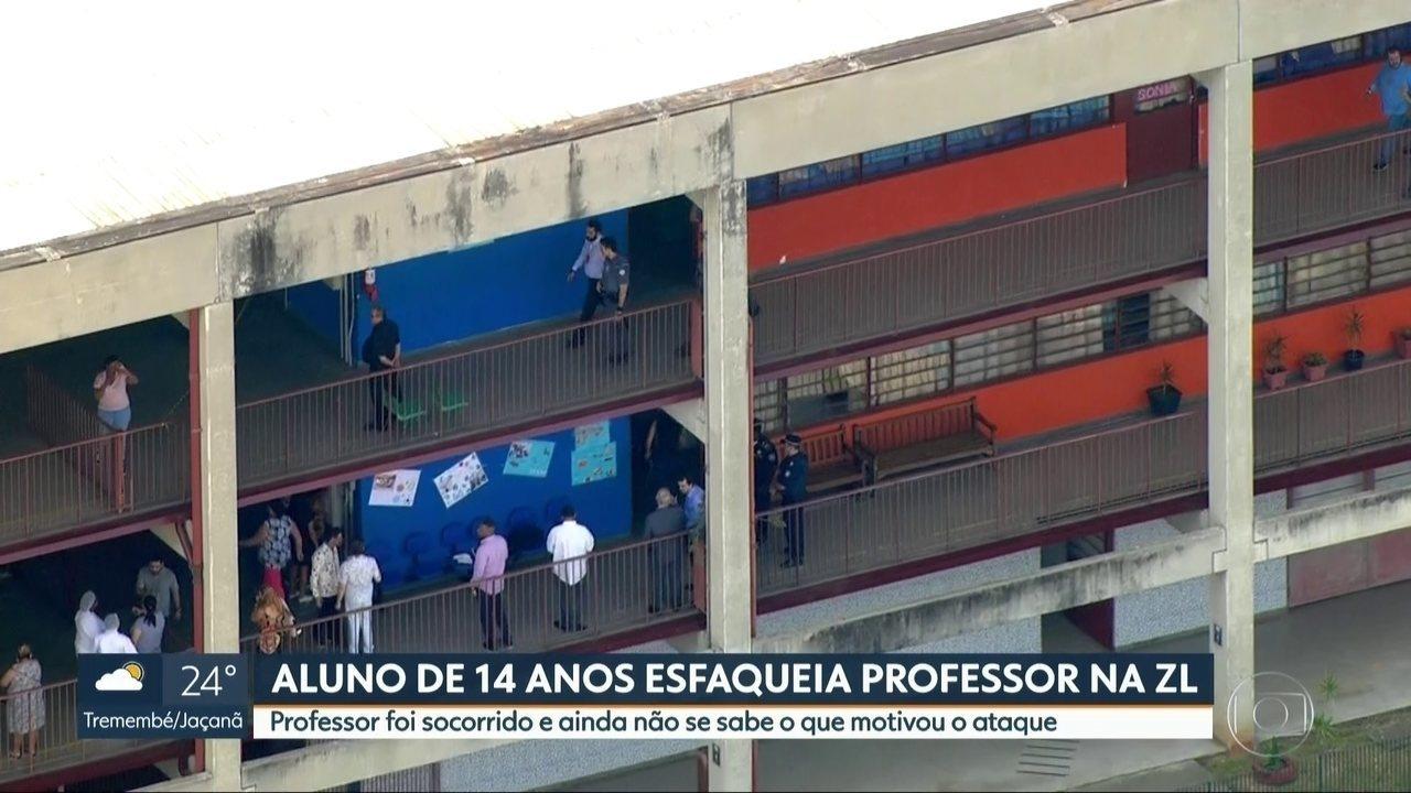 Aluno de 14 anos esfaqueia professor na Zona Leste de São Paulo