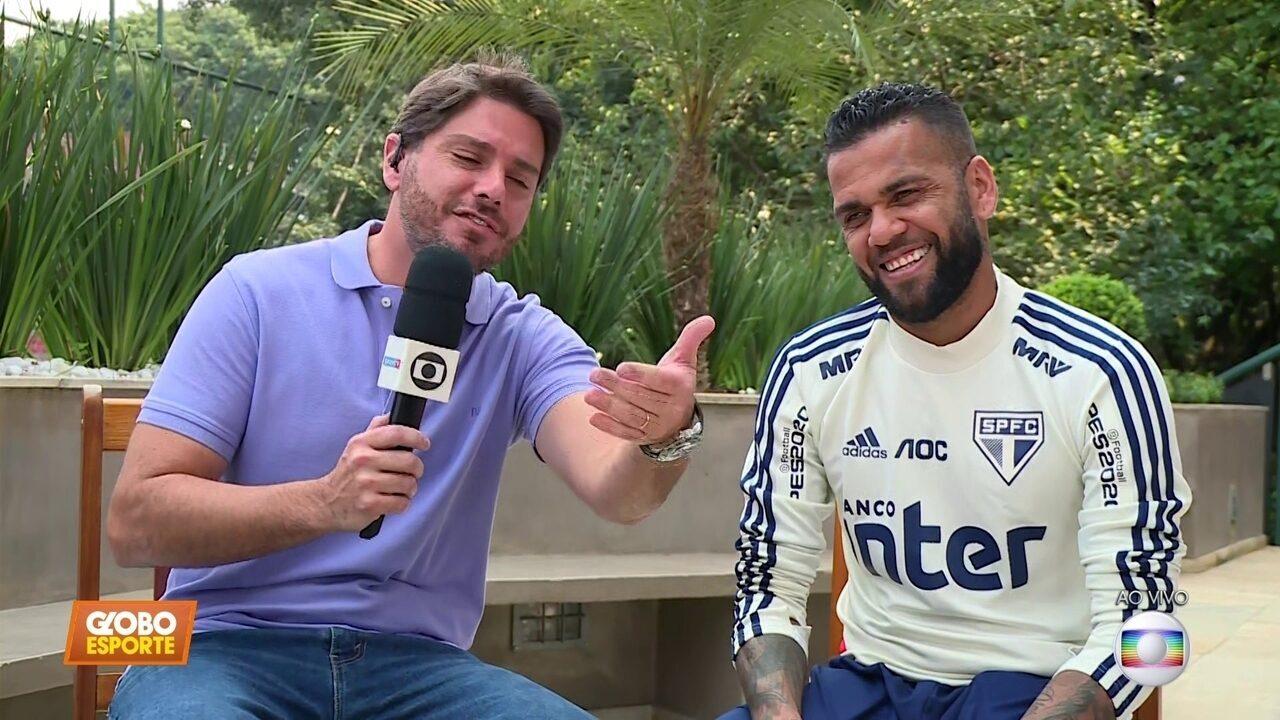 Daniel Alves conversa com o Globo Esporte SP