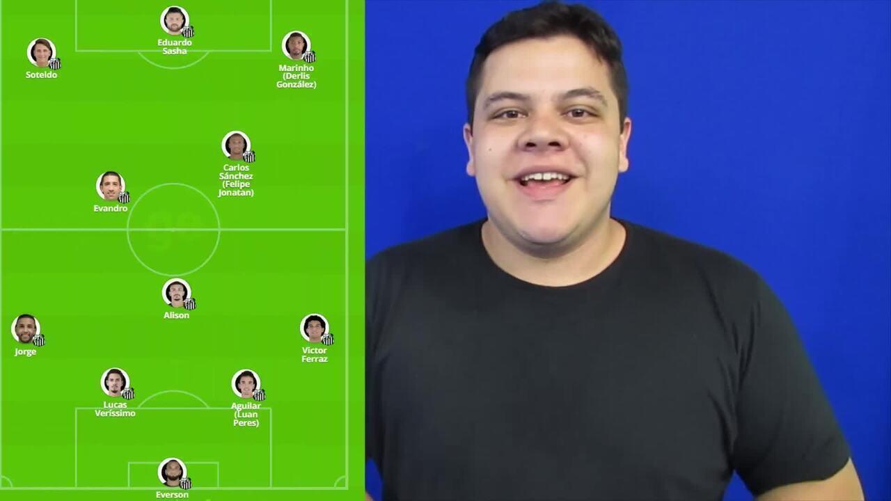 Repórter explica as possíveis formações do Santos para jogo contra o Grêmio