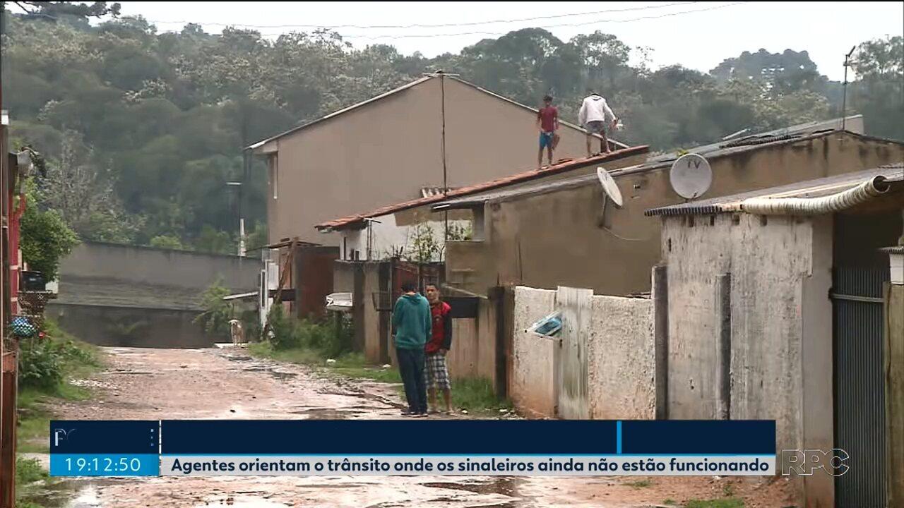 1.400 pessoas tiveram prejuízos com as chuvas em Curitiba