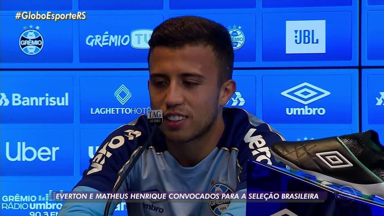 Everton e Matheus Henrique são convocados para a seleção brasileira