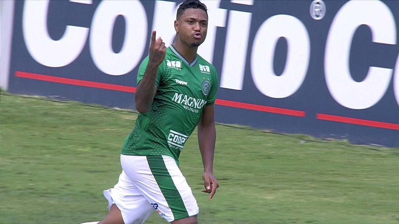 O gol de Guarani 1 x 0 Paraná pelo Campeonato Brasileiro da Série B