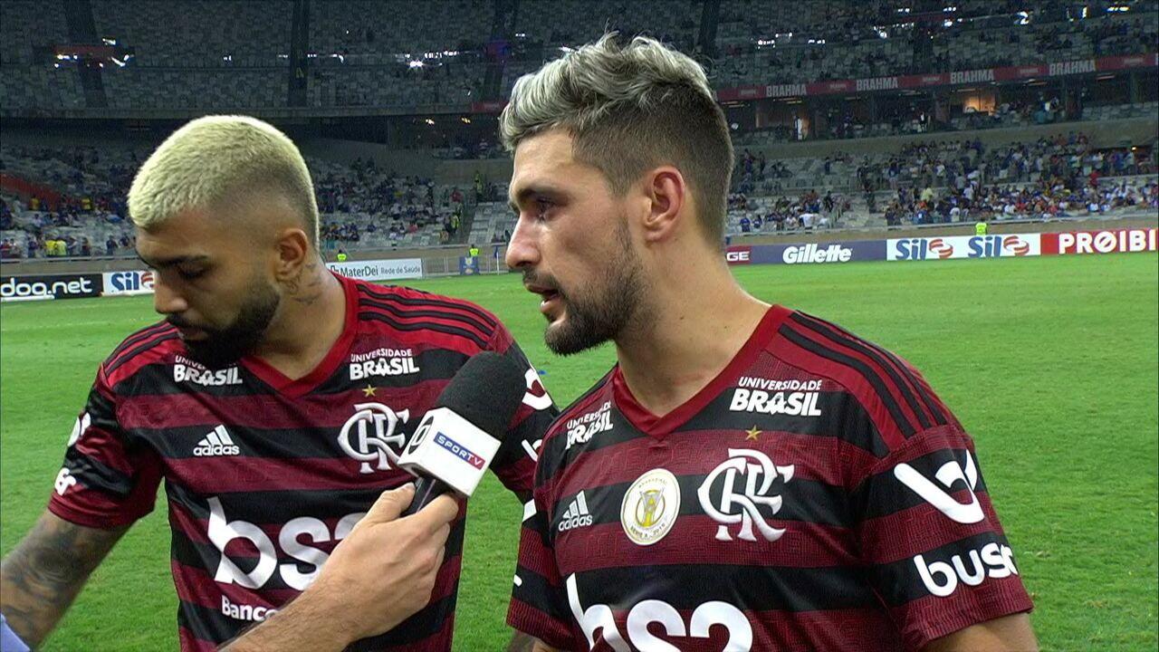 Arrascaeta enaltece atuação no Flamengo, mas que quer ver Cruzeiro dando a volta por cima