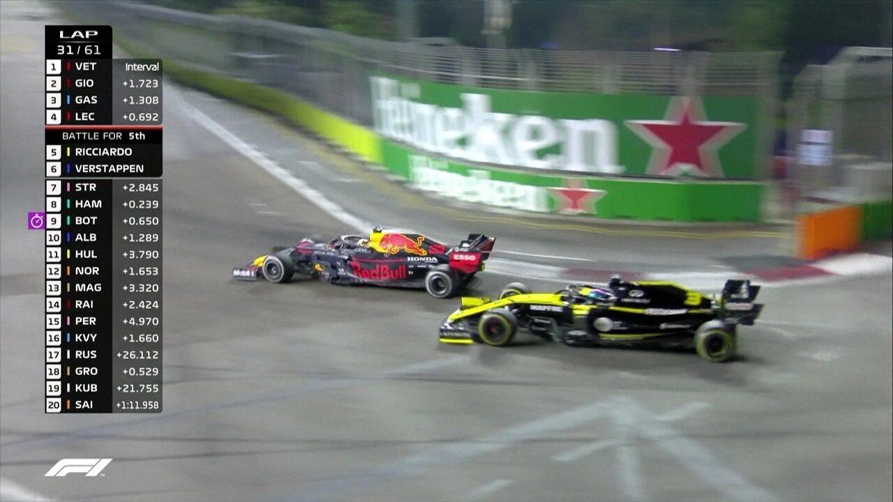 Max Verstappen passa Ricciardo e chega ao quinto lugar
