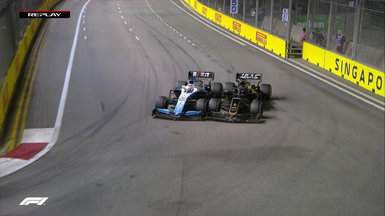 Romain Grosjean bate em Russell