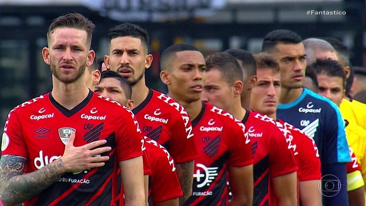 Gols do Fantástico: Athletico-PR estreia uniforme de campeão da Copa do Brasil
