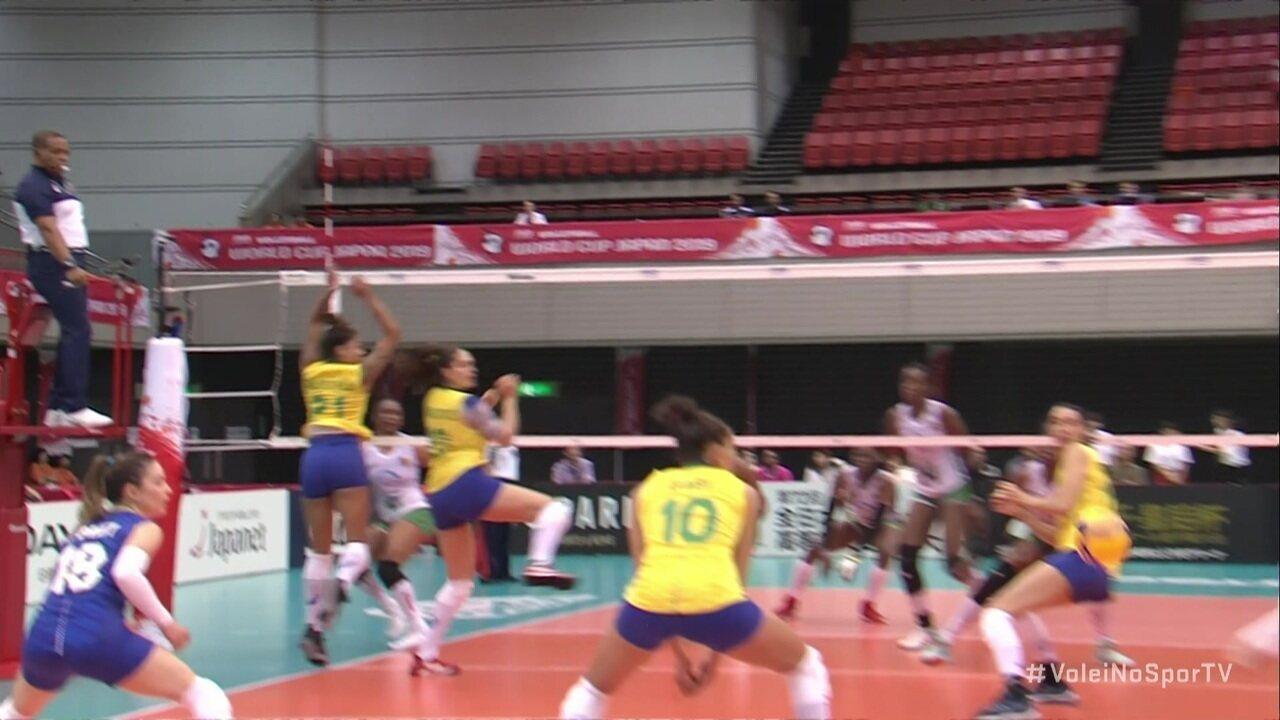 Melhores momentos de Camarões 0x3 Brasil pela Copa do Mundo Feminina de Vôlei