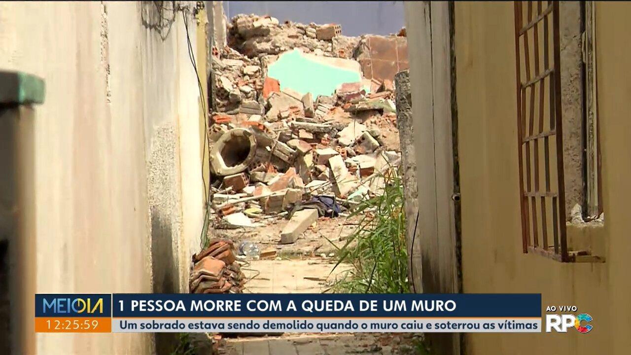 Uma pessoa morre após queda de muro em São José dos Pinhais.