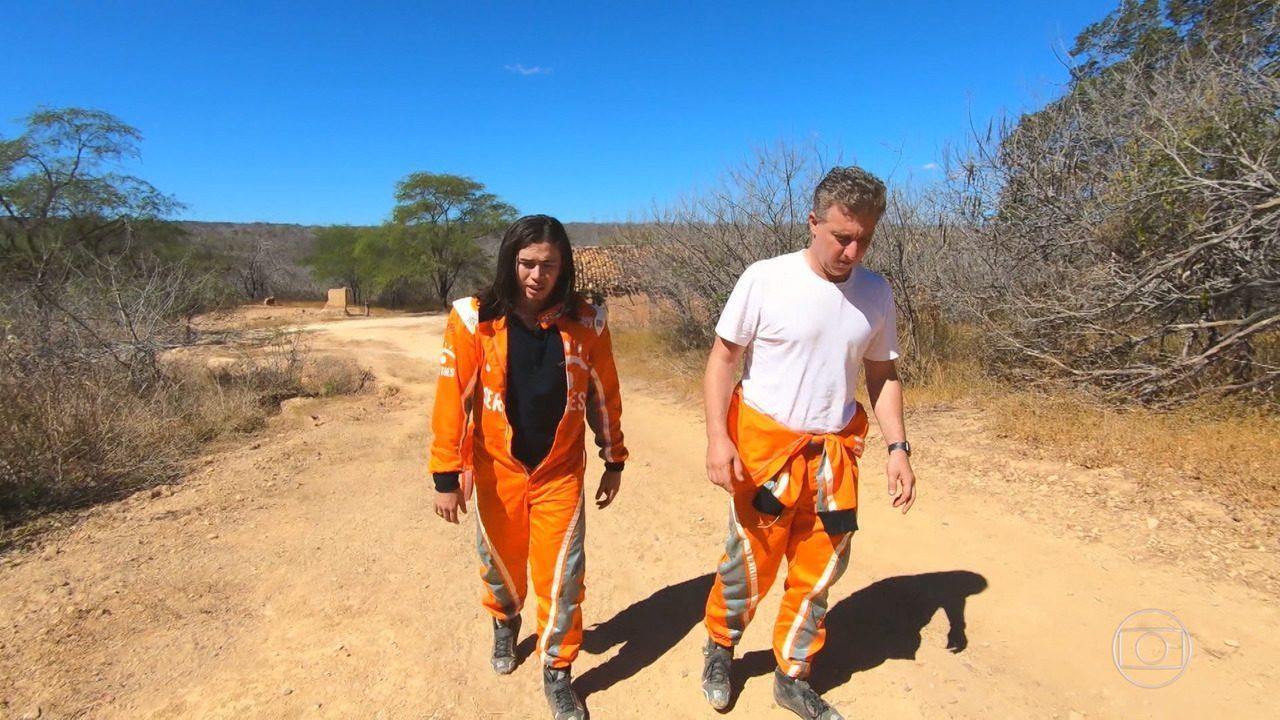 Whindersson e Huck participam do Rally dos Sertões no interior do Piauí