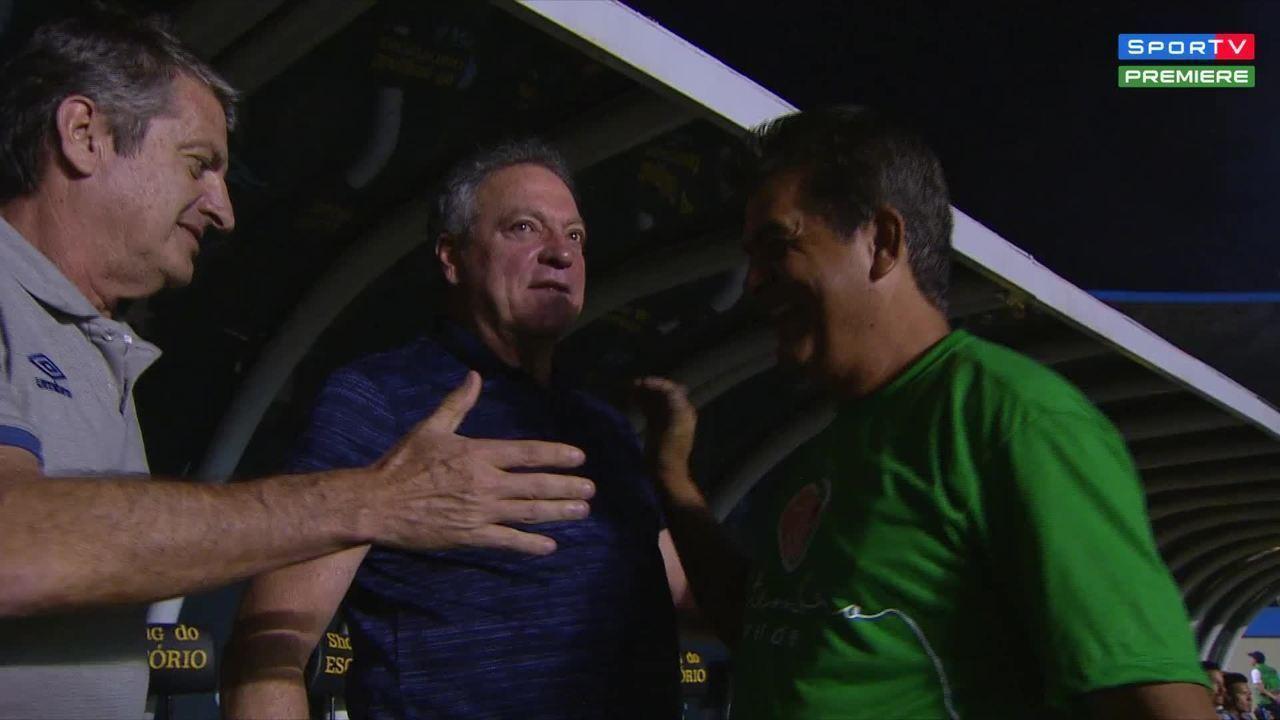 """Abel cumprimenta Ney Franco e desabafa: """"Vida de treinador tá uma f..."""""""