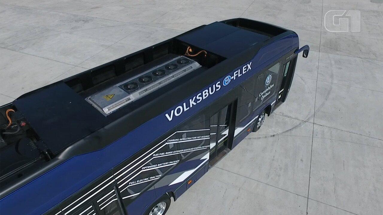 G1 dá uma volta com ônibus elétrico que será fabricado no Brasil