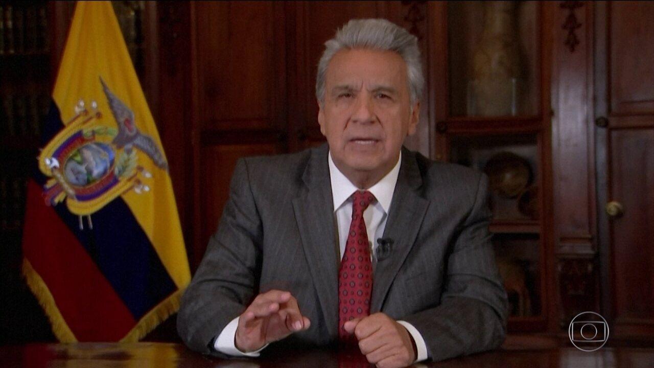 Presidente do Equador declara estado de exceção no país