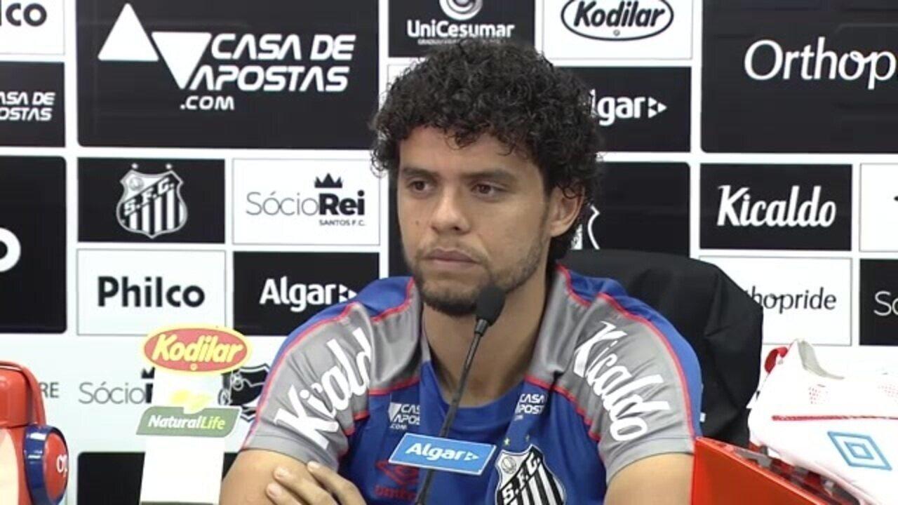 Veja como foi a entrevista de Victor Ferraz, do Santos, nesta sexta-feira