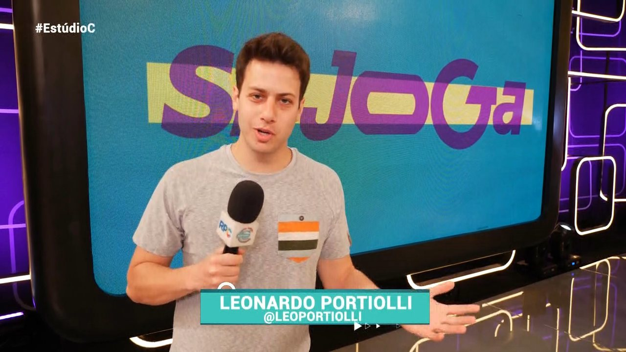 Leo Portiolli confere os bastidores do programa 'Se Joga'