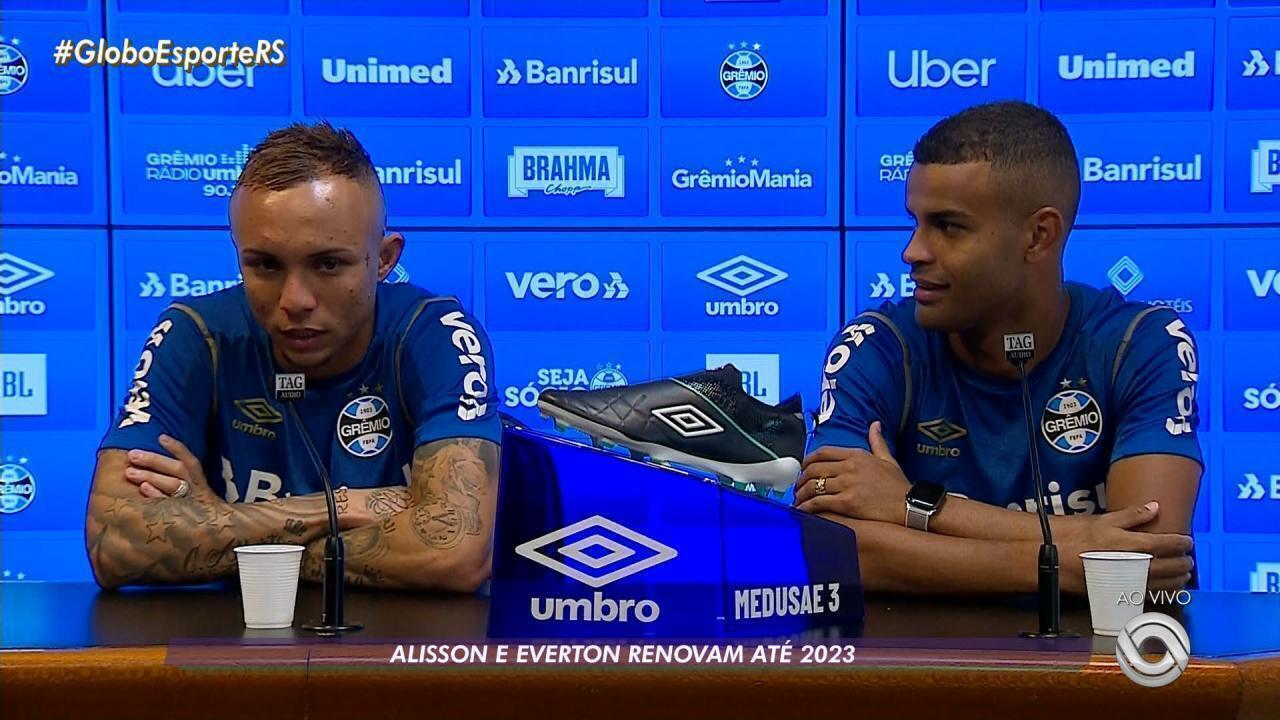 Alisson e Éverton renovam contrato com o Grêmio até o final de 2023