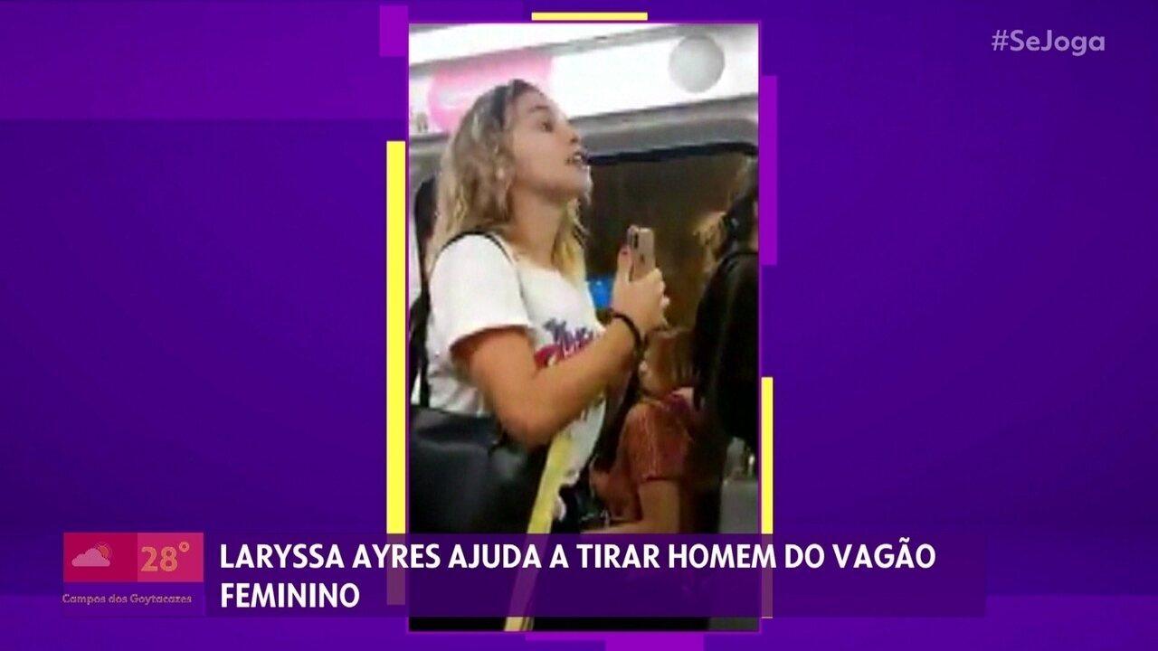 Laryssa Ayres esclarece repercussão após vídeo em vagão feminino do metrô do RJ