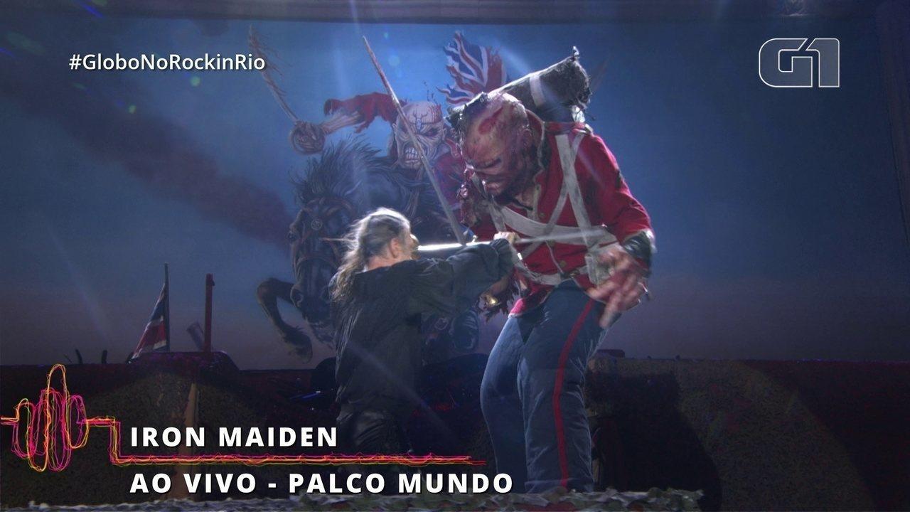 Vocalista do Iron Maiden enfrenta Eddie The Monster no Rock in Rio